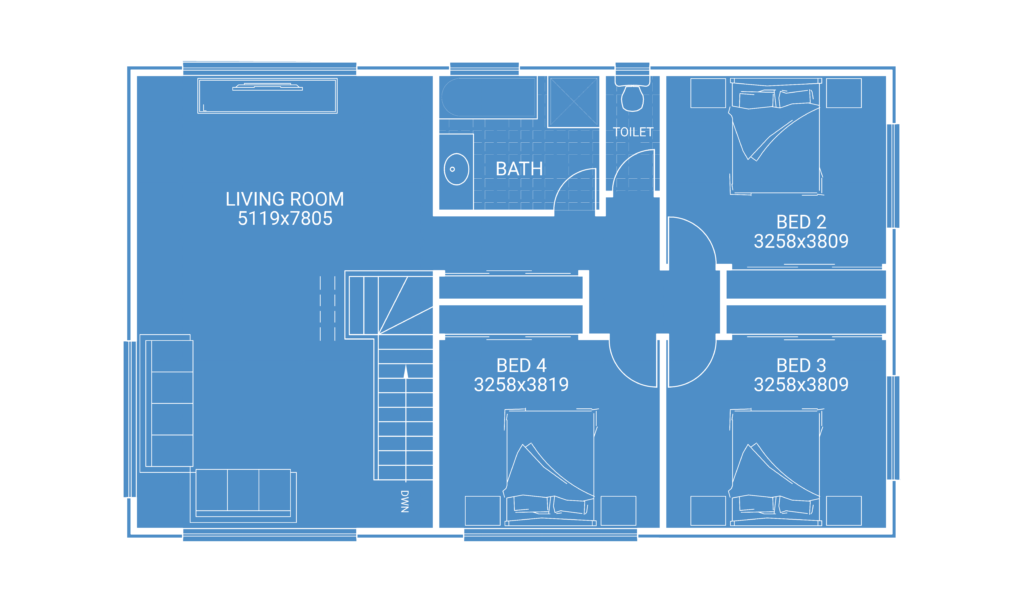 second storey extension floor plan blueprint for kids