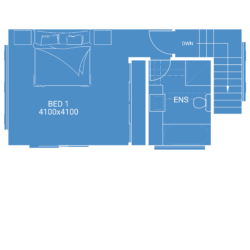 second storey extension free floor plan blueprint of parents retreat in Melbourne
