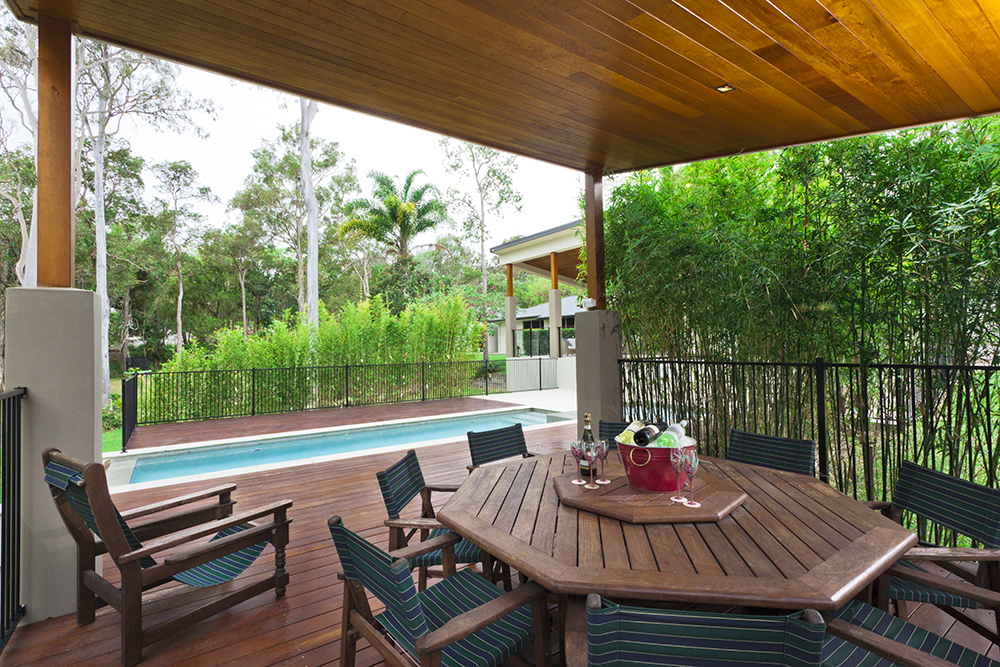 alfresco and pool area.