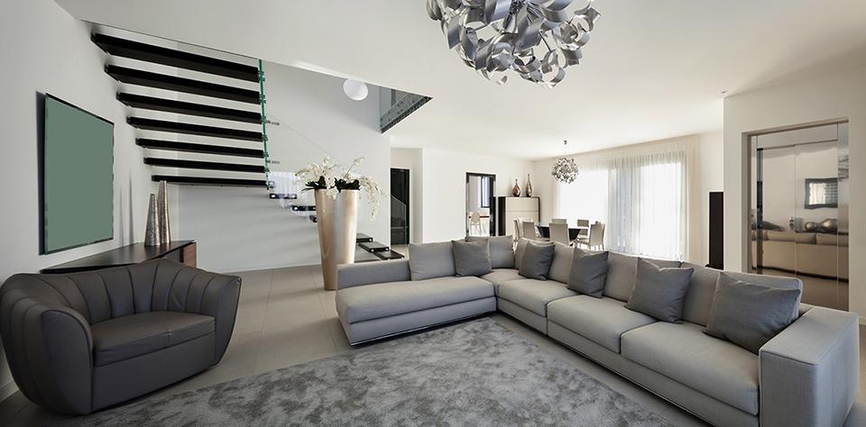 Living room renovation idea 5 - Modern living room design