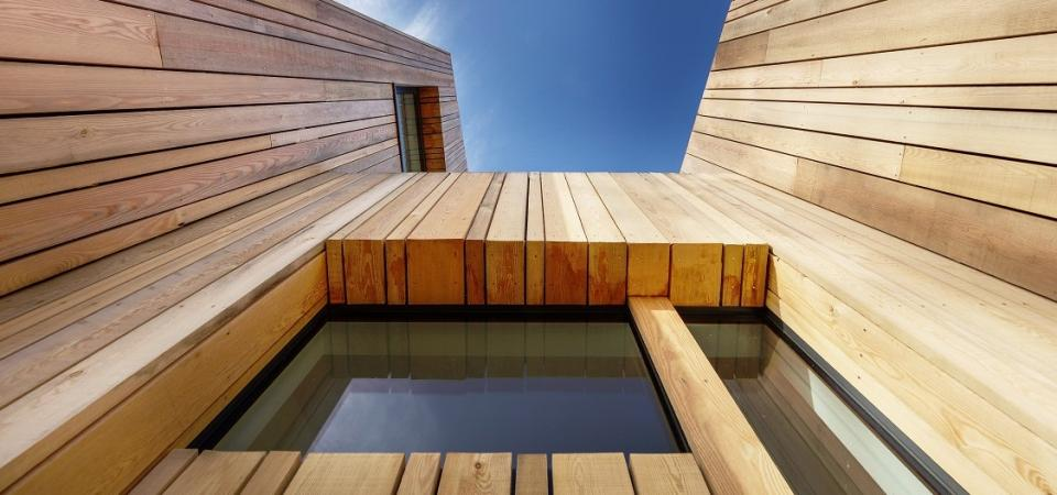 timber cladding modern home